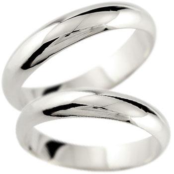 ペアリング 結婚指輪 マリッジリング ホワイトゴールドk18 地金リング 宝石なし 甲丸