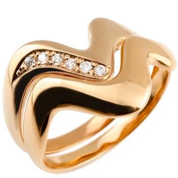 ペアリング ダイヤモンド 結婚指輪 マリッジリング ピンクゴールドk18