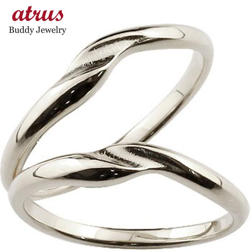 ペアリング 結婚指輪 マリッジリング ホワイトゴールドk18 つや消し