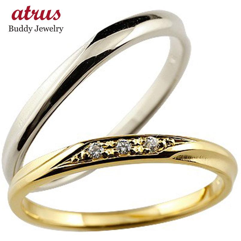 ペアリング ゴールドk10 結婚指輪 マリッジリング つや消し