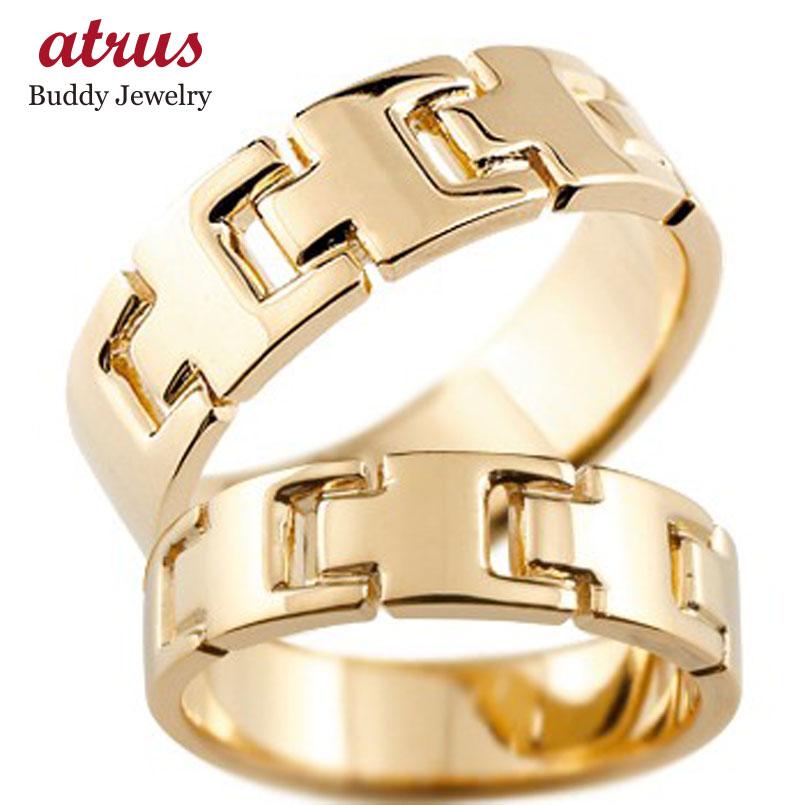 ペアリング 結婚指輪 マリッジリング 地金リング ピンクゴールドk18 シンプル 結婚式 宝石なし 人気
