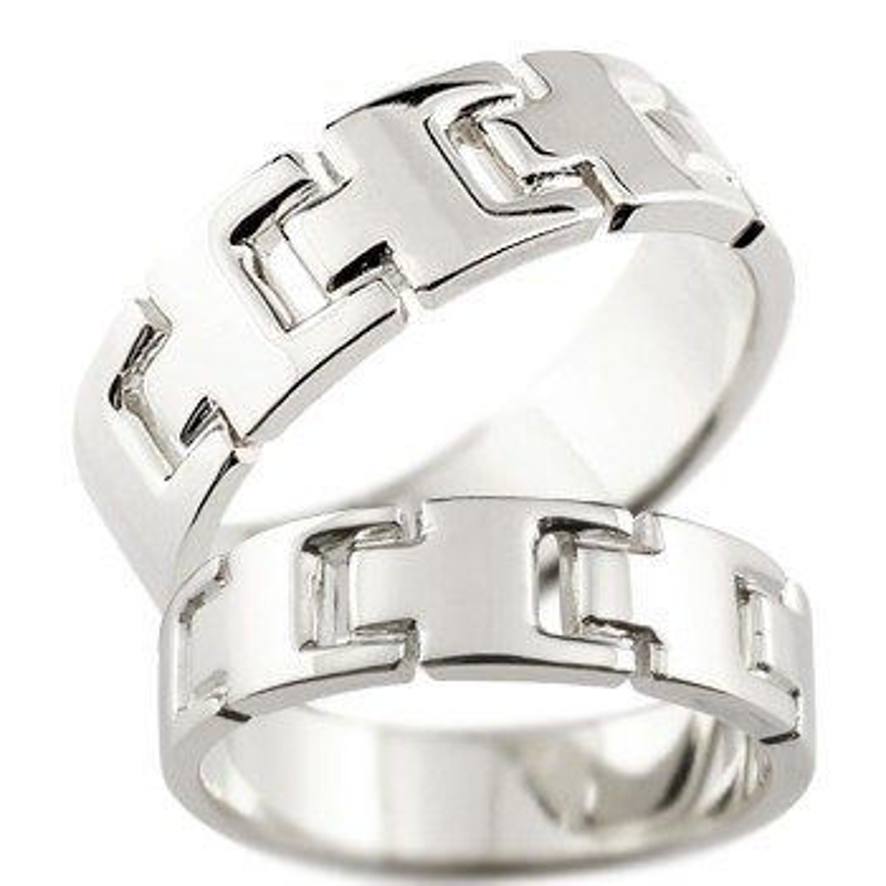 ペアリング 結婚指輪 マリッジリング 地金リング ホワイトゴールドk18 シンプル 結婚式 宝石なし 人気