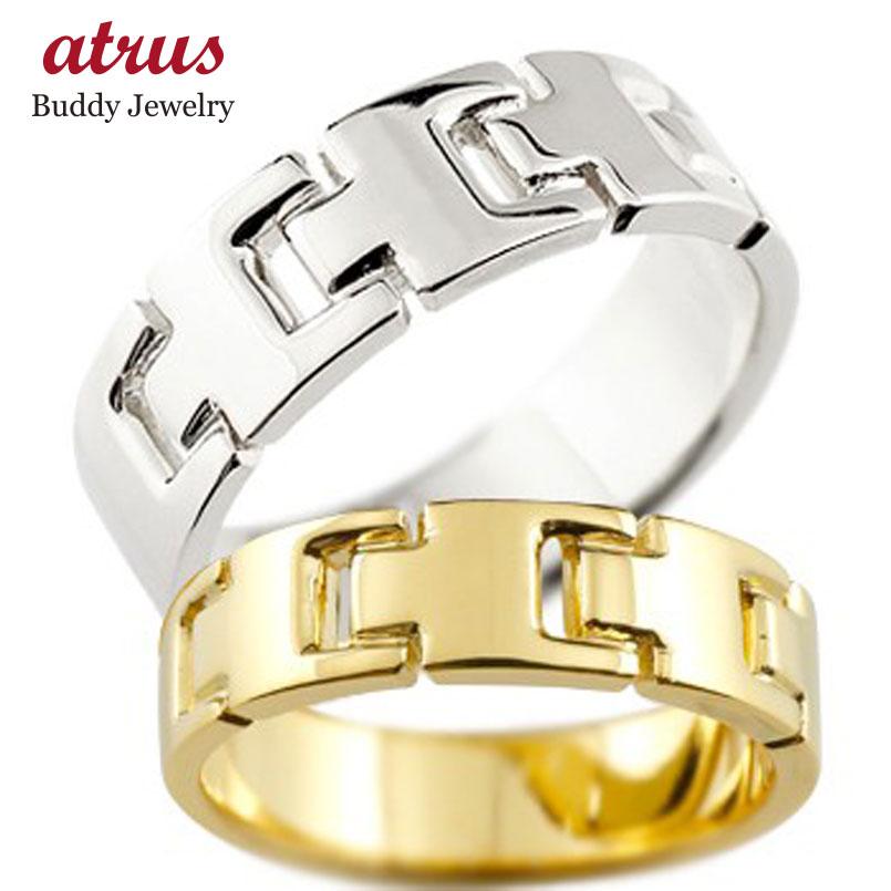 ペアリング 結婚指輪 マリッジリング 地金リング プラチナ イエローゴールドk18 シンプル 結婚式 宝石なし 人気