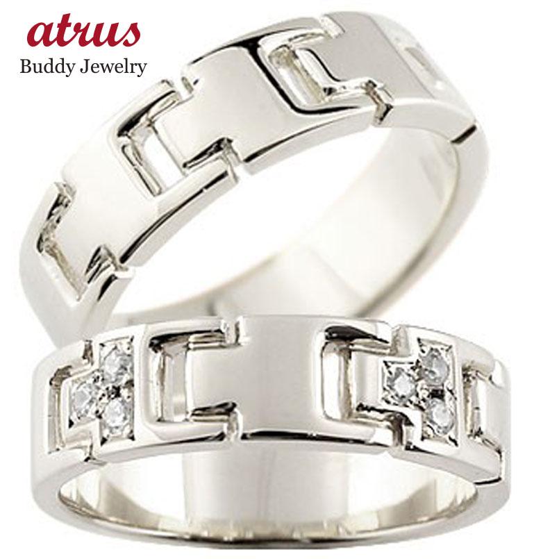 プラチナ ペアリング ダイヤモンド 結婚指輪 マリッジリング ダイヤ シンプル 結婚式 pt900 人気