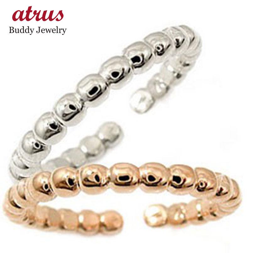 スイートハグリング ペアリング 結婚指輪 マリッジリング ホワイトゴールドk18 ピンクゴールドk18 フリーサイズリング 指輪 ハンドメイド 結婚式