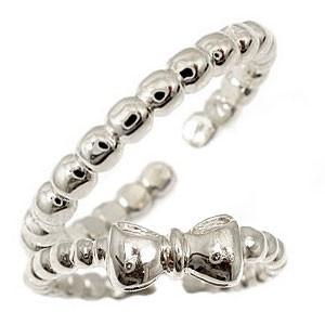 スイートハグリング ペアリング 結婚指輪 マリッジリング シルバー リボン フリーサイズリング 指輪 ハンドメイド 結婚式