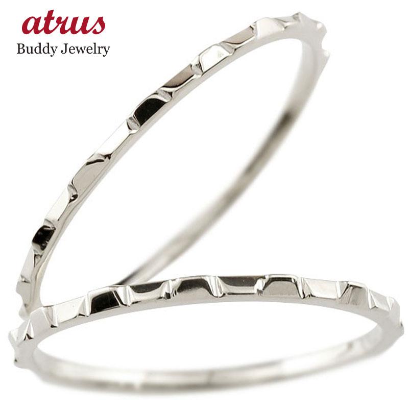 ペアリング 結婚指輪 マリッジリング 地金リング ホワイトゴールドk18 18金 指輪 結婚式 ストレート
