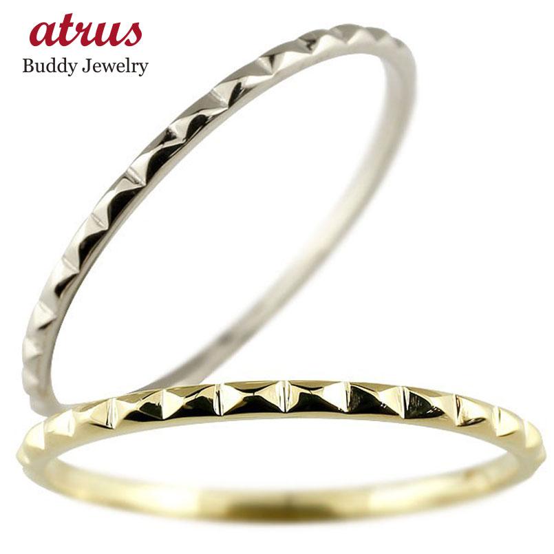 ペアリング 結婚指輪 マリッジリング 地金リング イエローゴールドk18 ホワイトゴールドk18 18金 指輪 結婚式 ストレート