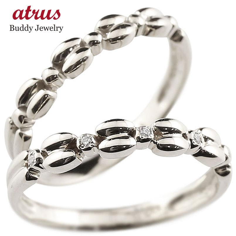 ダイヤモンド プラチナリング ペアリング ダイヤ pt900 極細 華奢 アンティーク ストレート 指輪