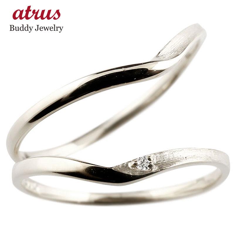 ペアリング 結婚指輪 マリッジリング ダイヤモンド V字 つや消し プラチナリング ダイヤ pt900 極細 華奢 結婚式 ストレート