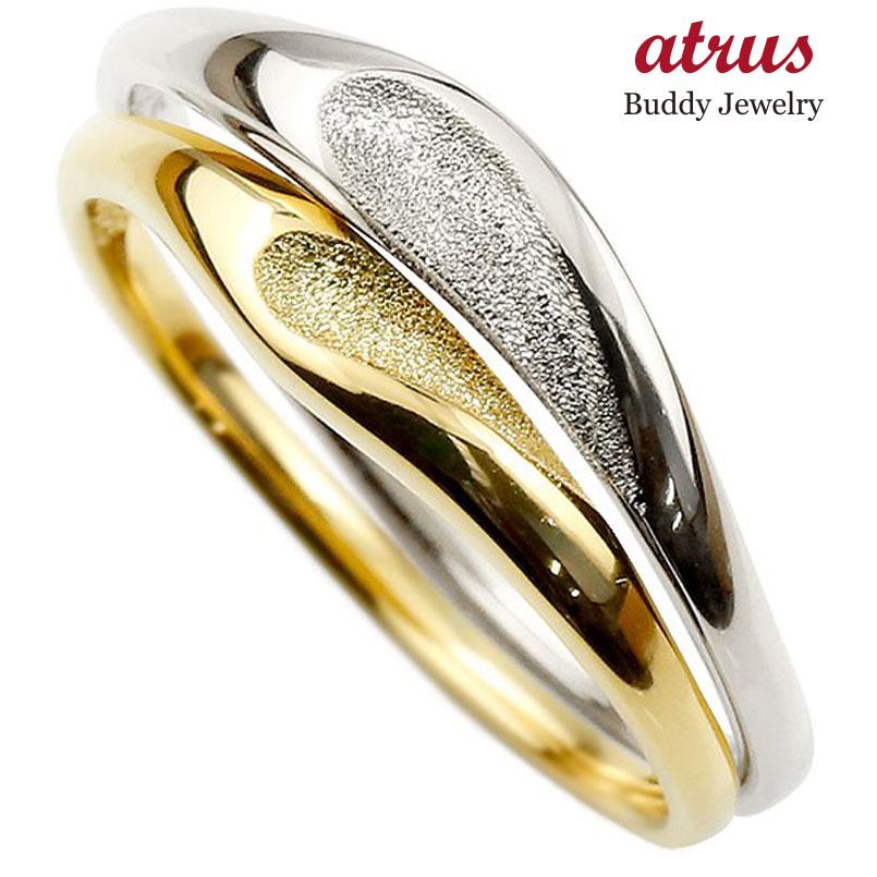 ペアリング ゴールドpt900 結婚指輪 マリッジリング つや消し