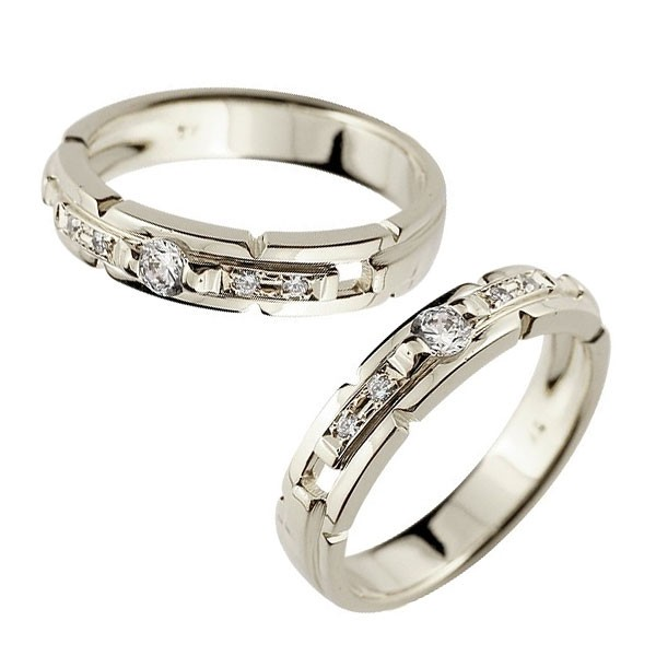 メンズ プラチナ ペアリング ダイヤ 指輪 ダイヤモンド pt900 男性用
