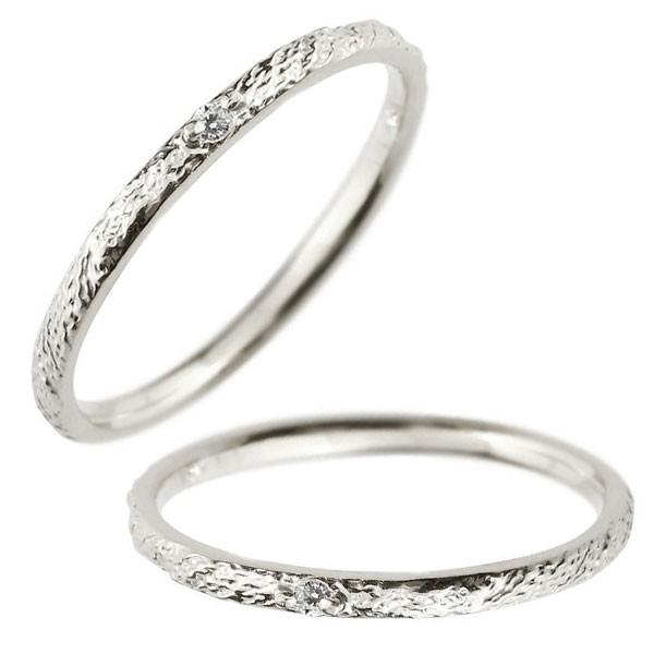 レディース ペアリング マリッジリング 結婚指輪 一粒 ダイヤモンド ホワイトゴールドk18 ダイヤ 18金 トラスト