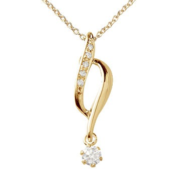ダイヤモンド ネックレス ペンダント ピンクゴールドk18
