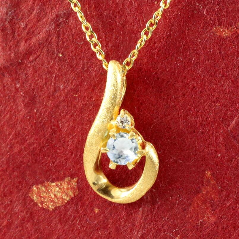 純金 ティアドロップ ブルームーンストーン ダイヤモンド ネックレス レディース ペンダント 雫 つゆ型 涙型 24金 ゴールド k24 人気 女性
