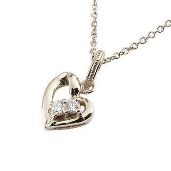 オープンハート プラチナ ネックレス ダイヤモンド ダイヤ ペンダント ハート レディース チェーン 人気