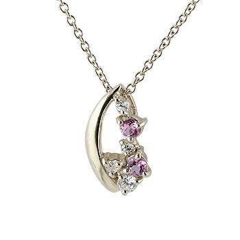 ピンクトルマリン ダイヤモンド プラチナ ペンダント ネックレス ダイヤ レディース 10月誕生石 チェーン 人気