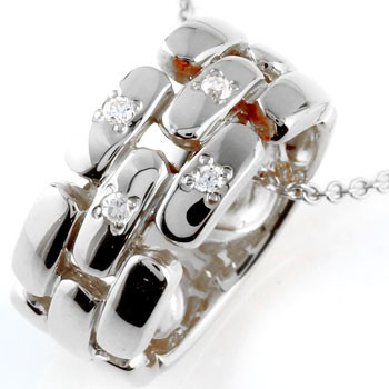 ダイヤモンド ネックレス ペンダント ダイヤ リングネックレス ホワイトゴールドk18 レディース チェーン 人気