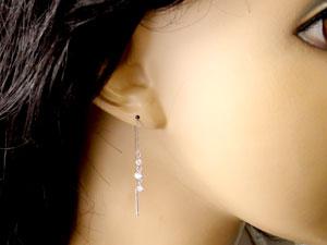 【送料無料】ダイヤモンド:ピアストリロジー:ダイヤモンド0.40ct:アメリカン:ロングピアス,特別価格【工房直販】