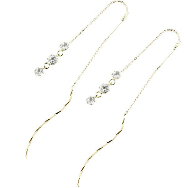 落ちないピアス アメリカンピアス ピアス 天然ダイヤモンド イエローゴールドk18 地金 シンプル レディース 18金 ストッピ 宝石