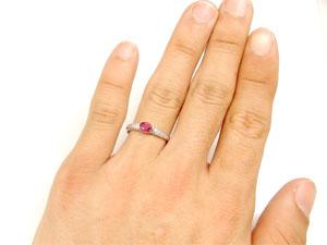 【送料無料:特別価格】指輪:ルビー:リング:ダイヤモンド:プラチナ900:7月の誕生石