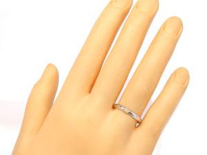【送料無料】ピンキーリングダイヤモンドホワイトゴールドK18/K18【工房直販】