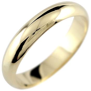 イエローゴールドk18 リング 指輪 甲丸 ストレート ピンキーリング