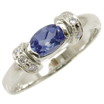 【送料無料】アイオライト:プラチナリング:ダイヤモンド:指輪:PT900【工房直販】