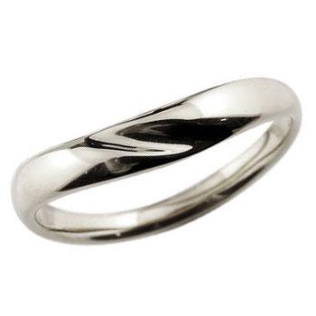 V字 プラチナリング 指輪 ピンキーリング 地金リング シンプル レディース 宝石なし