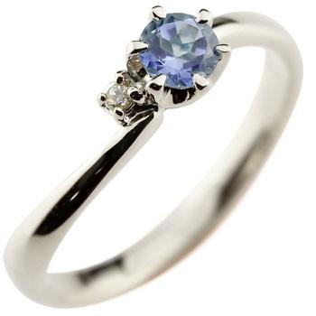 アイオライト プラチナリング 指輪 ピンキーリング