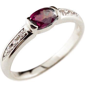 ロードライトガーネット リング プラチナ 指輪ダイヤモンド 1月誕生石 ピンキーリング 18金