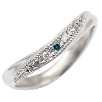 ホワイトゴールドk10リング:ダイヤモンドリング:ダイヤモンド0.05ct:指輪