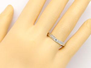 ホワイトゴールドk10リング,天然ダイヤモンド