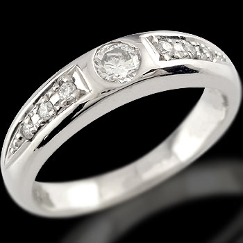 【送料無料】指輪:プラチナリング:ダイヤモンド:リング:一粒ダイヤモンド0.10ct:特別価格【工房直販】