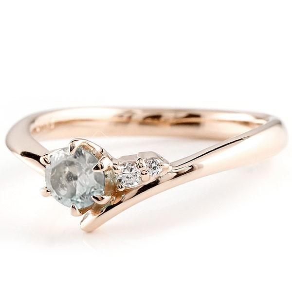ブルームーンストーン ピンクゴールドリング ダイヤモンド 指輪 ピンキーリング 一粒 大粒 k10 レディース 6月誕生石