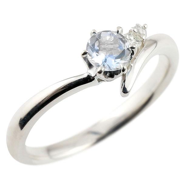ブルームーンストーン ホワイトゴールドリング ダイヤモンド 指輪 ピンキーリング 一粒 大粒 k18 レディース 6月誕生石
