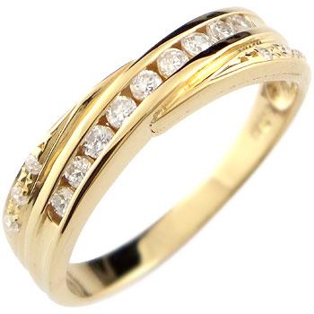 ダイヤモンド リング 指輪 ダイヤ イエローゴールドk18