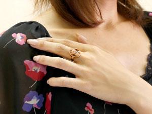 猫 リング ブルートパーズ 指輪 ピンキーリング ピンクゴールドk18