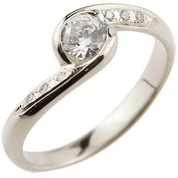 キュービックジルコニア リング 大粒 指輪 シルバーリング
