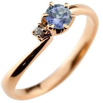 アイオライト リング 指輪 ピンキーリング ピンクゴールドk18