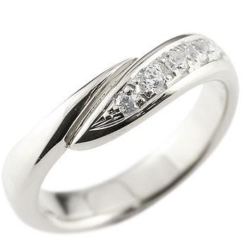 キュービックジルコニア シルバーリング 指輪 ピンキーリング スパイラル ウェーブリング sv レディース