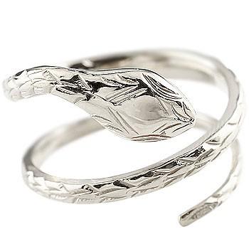 プラチナ ピンキーリング ヘビ 蛇 指輪 プラチナリング 地金リング フリーサイズ pt900 レディース