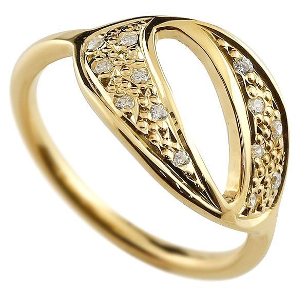 ナンバー NO.0 ダイヤモンド イエローゴールド k18 リング 指輪 数字 ピンキーリング