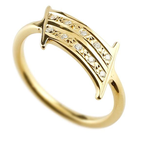 ナンバー No.1 ダイヤモンド イエローゴールド k18 リング 指輪 数字 ピンキーリング