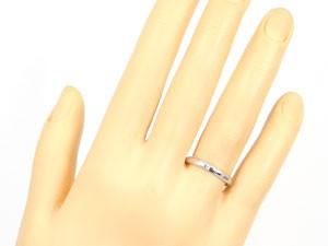 【送料無料・結婚指輪】ピンキーリングホワイトゴールドk10リング指輪