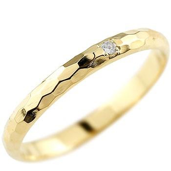 ブルームーンストーン ピンキーリング イエローゴールドk18 指輪 一粒 6月誕生石 18金