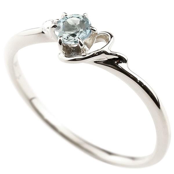 イニシャル Y ピンキーリング アクアマリン 華奢リング 3月誕生石 プラチナ 指輪 アルファベット ネーム レディース 人気 3月誕生石