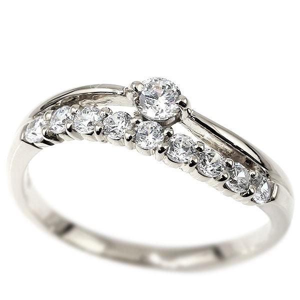 リング ホワイトゴールドk18 ダイヤモンド 指輪 ピンキーリング