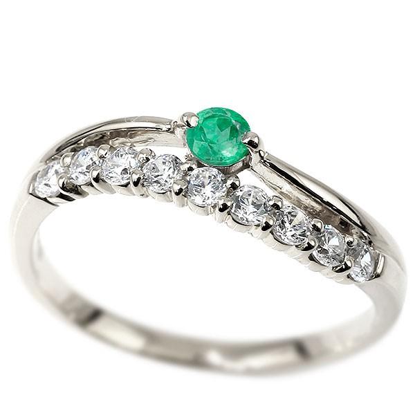 リング シルバー エメラルド 指輪 ピンキーリング