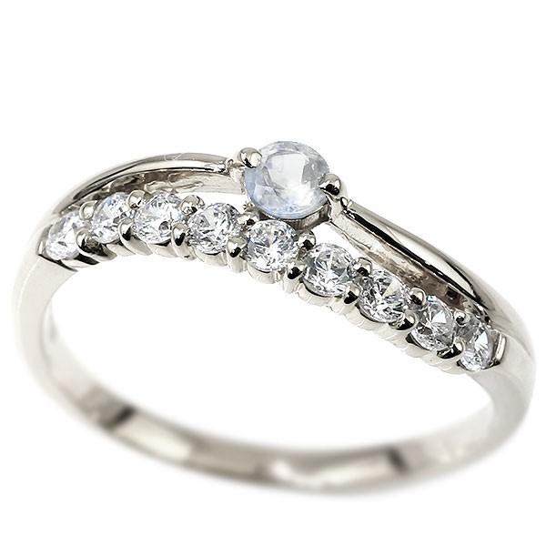リング シルバー ブルームーンストーン 指輪 ピンキーリング